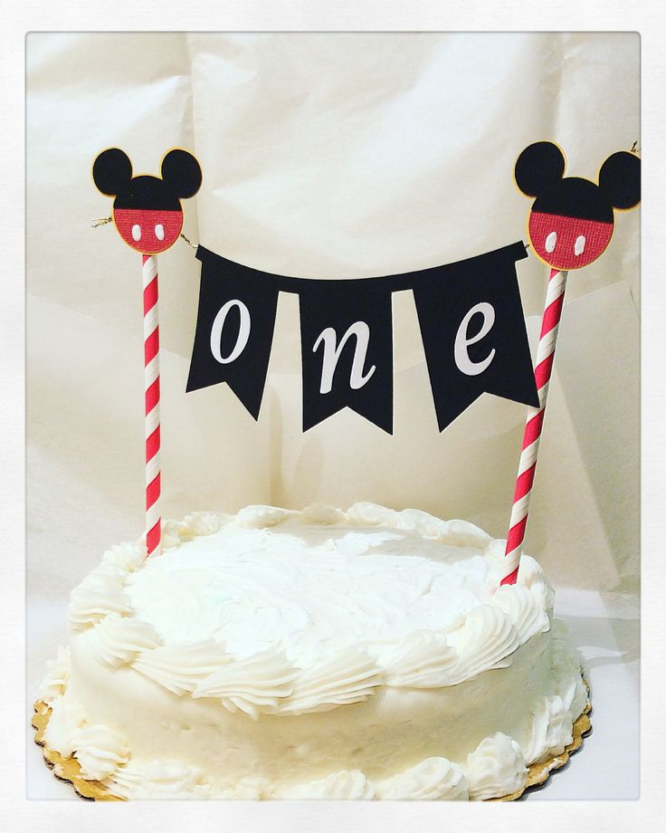 Mickey Mouse cake topper-Mickey mouse cake bannerphoto prop-baking supplies-Mickey birthday banner-first birthday party supplies-mickey by ToribelleDesignss on Etsy