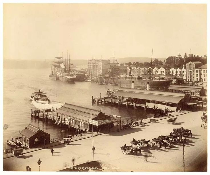 Circular Quay, Sydney in 1893. Photo shared from State Library of New South Wales. v@e.