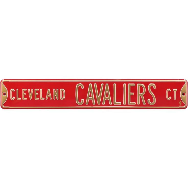 Authentic Street Signs Cleveland Cavaliers Court Sign, Team