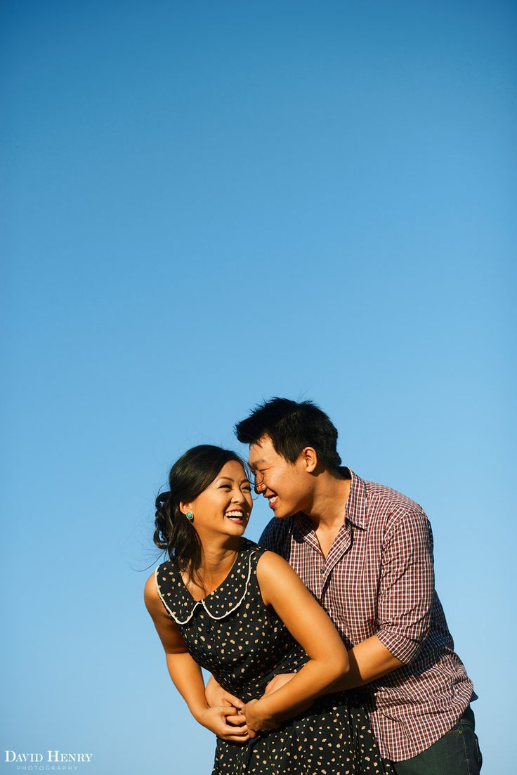 A gorgeous day for an engagement session in Sydney's Centennial Park. Photo by David Henry Photography