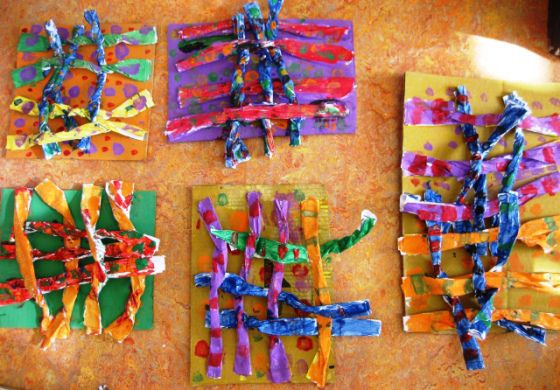 Recycled Paper Weaving in Grade Two | Art Lessons For Kids