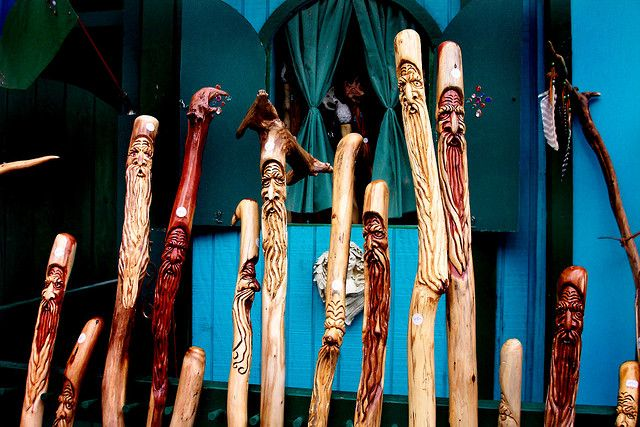 All you need is a knife, a walk in the woods and a bit of carving, and you're ready to make money selling walking sticks. Here's how it's done.