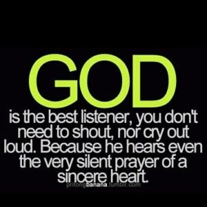 Thank you Lord for being there when I need someone to talk