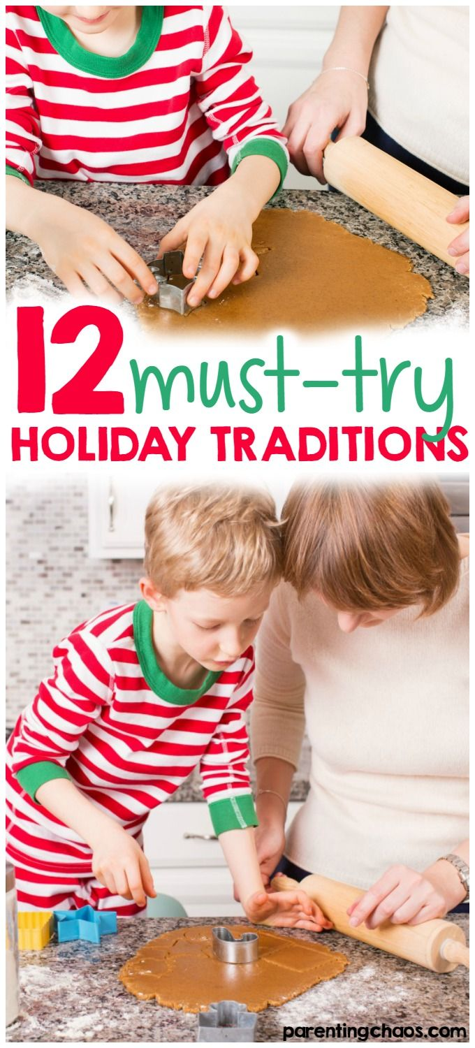 These 12 Holiday Traditions are a fantastic way to bond as a family!