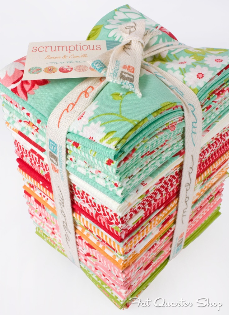 Scrumptious is so bright and cheerful!  Scrumptious by Bonnie & Camille for Moda Fabrics Available in October 2013
