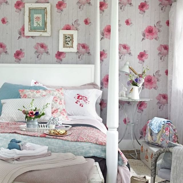 Shabby Bedroom Includes Loads Of Flowers And Patterns To Make You