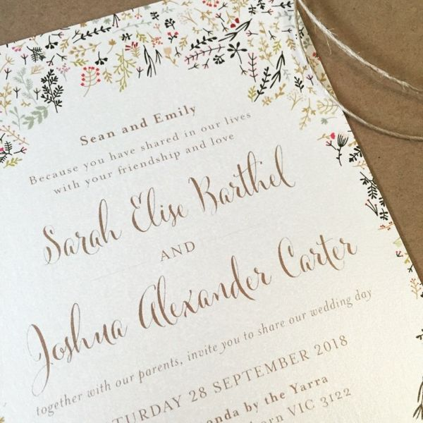 We made these floral invitations for a bridal exhibition - aren't the autumnal colours lovely? www.thepaperempire.com.au