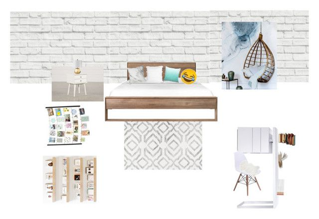 """""""My dream room"""" by minhkhanhvu on Polyvore featuring interior, interiors, interior design, maison, home decor, interior decorating, Brewster Home Fashions, nuLOOM, Bellini et Thro"""