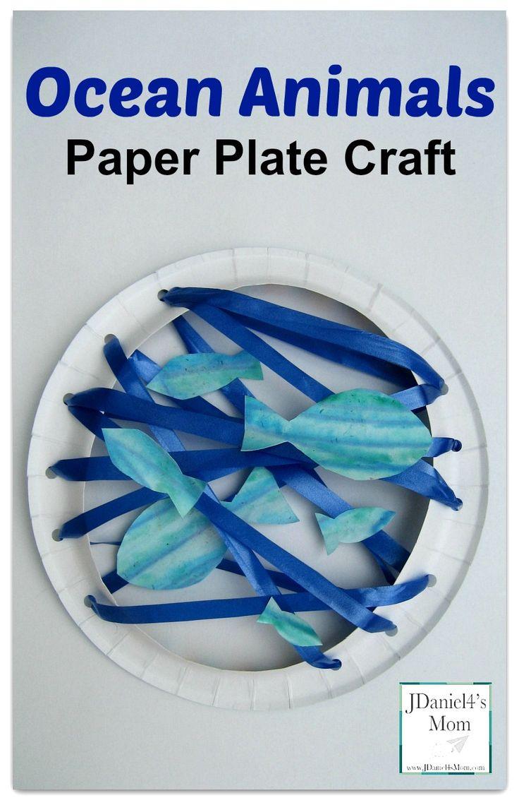 Ocean Animals-Paper Plate Craft Super fun fine motor skills activity from JDaniel4smom.com