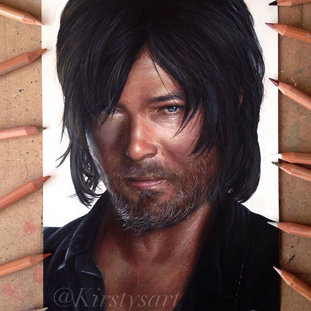 My finished drawing of Daryl Dixon from The Walking Dead! Watch me draw him on my YouTube channel, link is in my bio 💕 I did this using @caran_dache luminance coloured pencils! #drawing #walkingdead #daryldixion #normanreedus #walkingdeadart #love_arts_help #justartshelp #spotlightonartists #arts_help #arts_hype #arts_gate #young_artists_help #artistic_support #twd #artistic_dome #artisticshare #iartpost #illustratenow #art_hyperrealism #justartsogram #ads_art #artistuniversity…