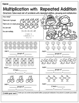 Free Worksheets » Multiplication As Repeated Addition Worksheet ...