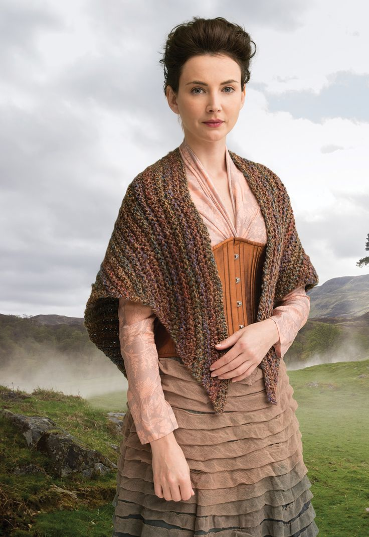 Instant Digital Download: Outlander The Series Arrival at Lallybroch Shawl crochet pattern.