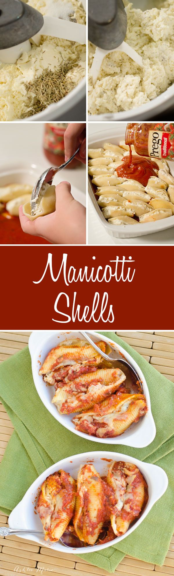 this manicotti in shells dinner is fast and easy and one that everyone in the family loves. Perfect for a busy night