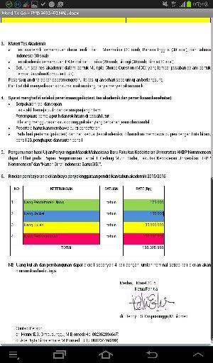 Info ujian penyaringan n biaya