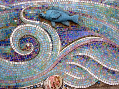 fish mosaic - Fantastisch Mosaik Flie