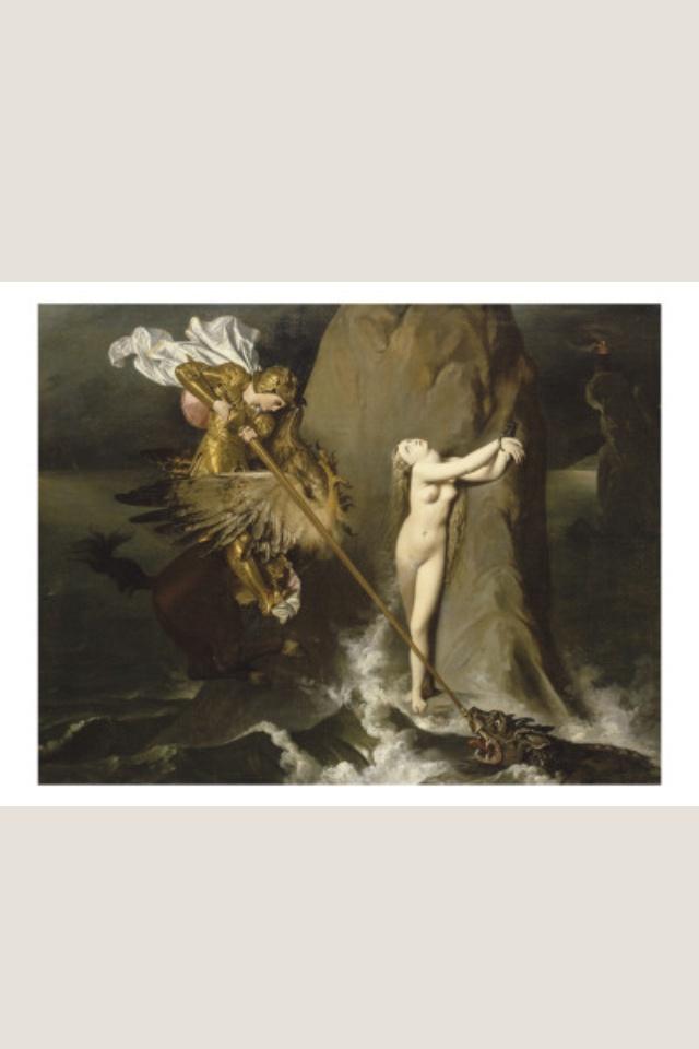 Roger délivrant Angélique - Jean-Auguste-Dominique Ingres