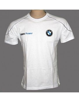 BMW White T-Shirt with embroidered logos from http://autofanstore.com