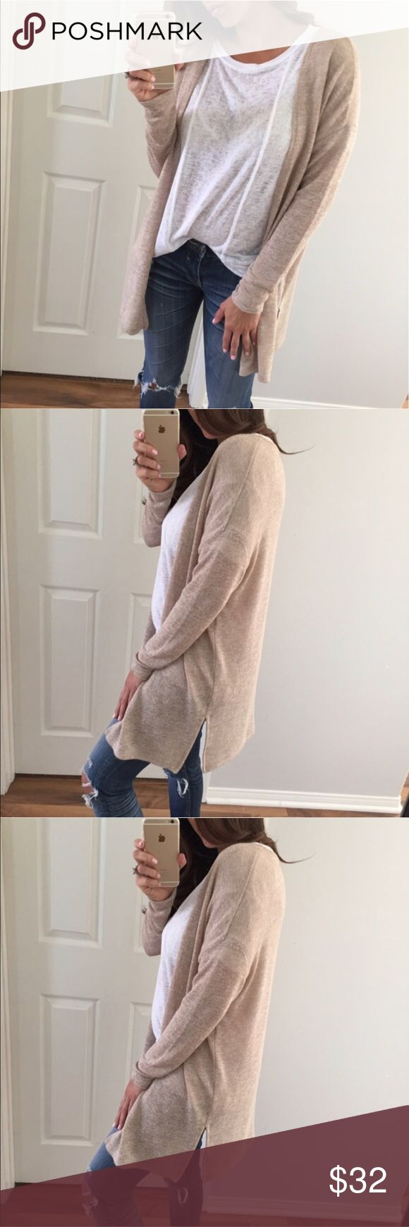 Nude Cardigan Reposh: @mrsalliexo. Brand new! See last photo for description. Also in burgundy. Sweaters Cardigans