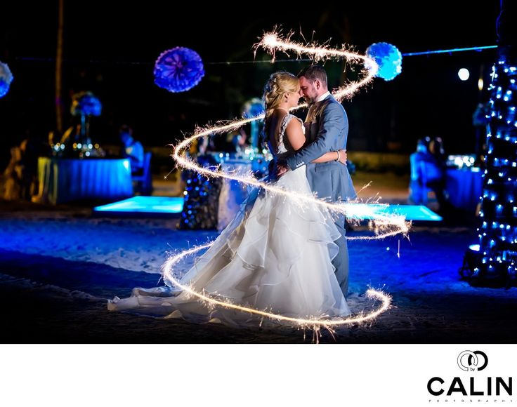 Photography by Calin - Barcelo Maya Palace Deluxe Wedding Portrait With Sparklers:  Ironically, despite the fact that I am a wedding photographer based in Toronto, one of my most recognizable pictures was captured in Mexico at a ,wedding on the Mayan Riviera. Even more interesting, a few of my most important wedding photography words were granted to pictures taken at another Barcelo Maya Palas Deluxe wedding. There has to be something about this resort that triggers my creative juices.  ...
