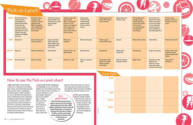 Pick-a-Lunch Chart Makes Planning Easy: The Sanity-Saving Guide to Packing a Delicious, Nutritious Lunch