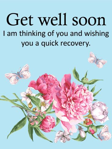 Carnation Get Well Card: Flowers are a great way to send your well wishes to a loved one, but sometimes a fresh bouquet is impossible to send. Instead, use the beautiful pink and white carnations on this Get Well card to send your love and wishes for a speedy recovery today!   The kind words and touching imagery will let them know that you are thinking of them during this time of sickness.
