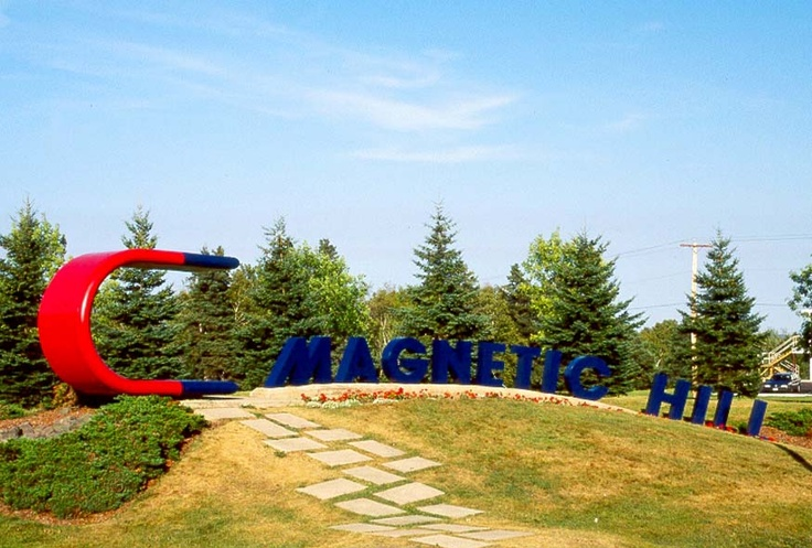 Magnetic Hill - oooh creepy. New Brunswick, Canada
