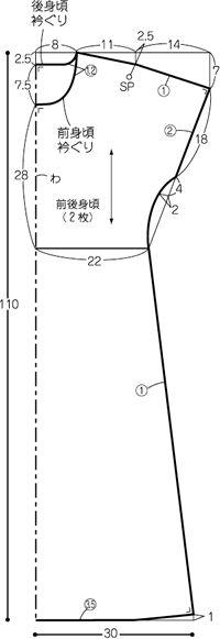 Sheath Dress pattern from そーいんぐ.com {Sewing.com}