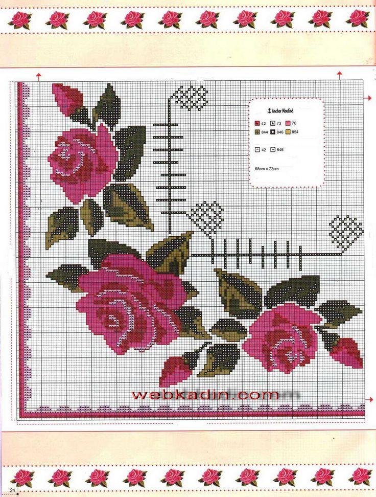 etamin masa örnekleri şema açıklamalı salon mutfak masası işleme model çiçek meyve desenli
