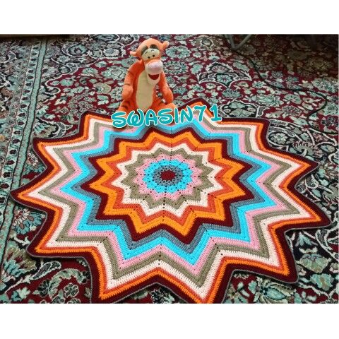 #crochet#crocheting#yarn#handmade#craft #أعمالي#hook #Stitch #غرزة# #كروشيه#خيوط#خيط#أشغال#أعمال#يدوية#باترون#باترونات#جميل#doily#صنارة#سنارة#napkin#مفرش #learn#مفرشي#أعمالي#مفرش_النجمة#zigzag#star_doily