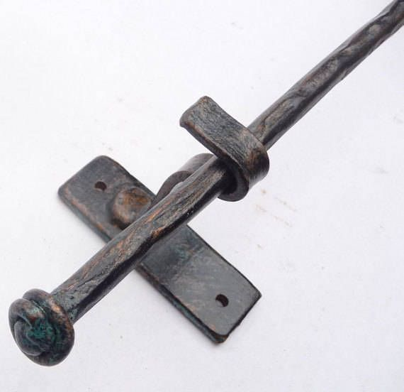Curtain Rod Drapery Hardware Rustic Forged Solid Steel