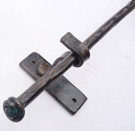 Curtain Rod  5-6 Foot Medium Diameter Rustic Forged Steel