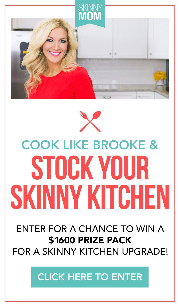 I entered Skinny Mom's Stock Your Skinny Kitchen giveaway! For YOUR own kitchen upgrade, click here!