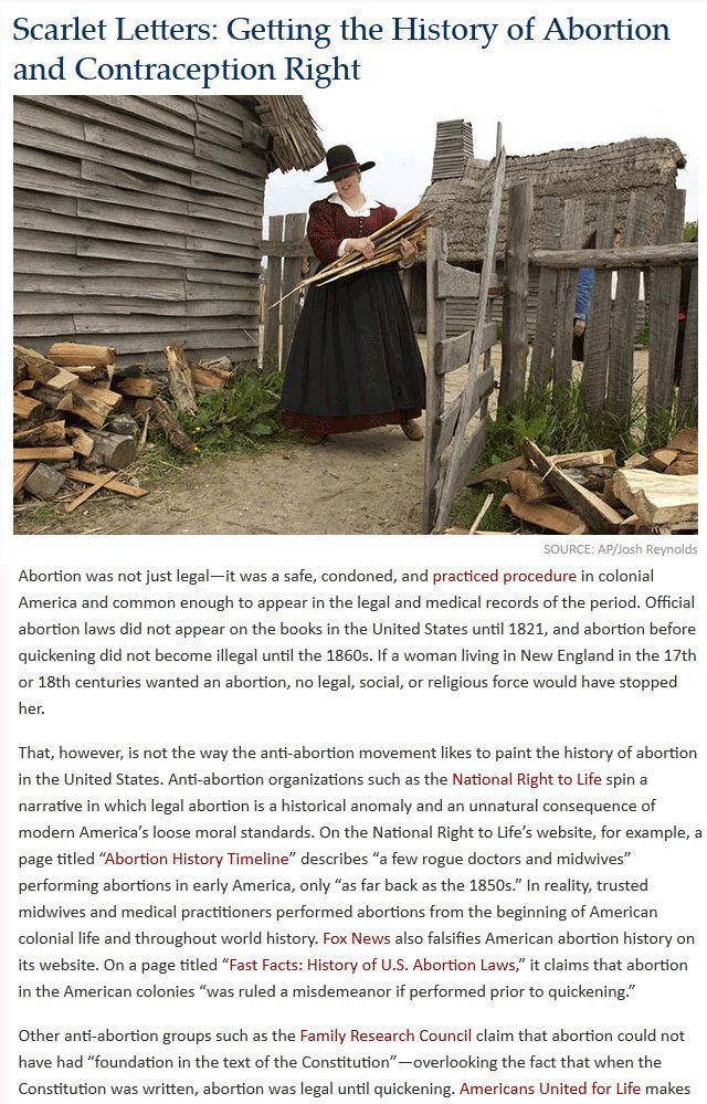 Bet you didn't know abortion was perfectly legal up until 1860 in America. Great information in this article. [Here's to celebrating Happy Human Diversity on this one!]  :D