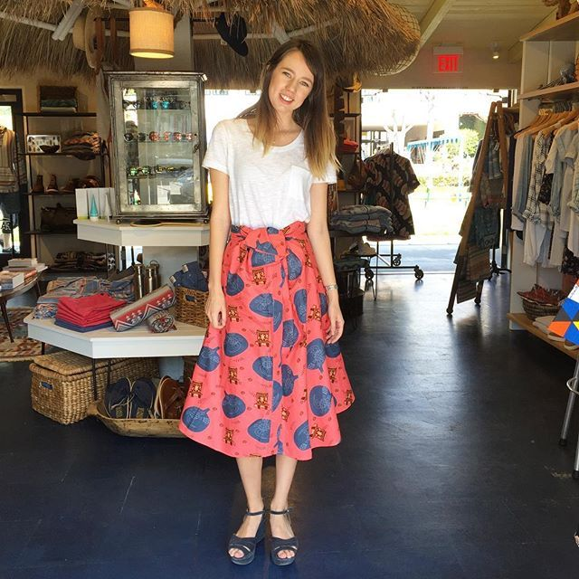 @fahertybrand's very own Emma rocking our Turtling Around dress as a skirt!  How amazing