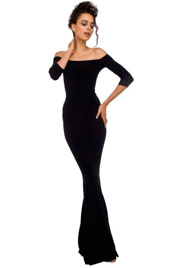 norma fishtail gown #normakamali #clothes #dress #fashion #black #lbd: Gorgeous Silhouette, Rma Small Kamali