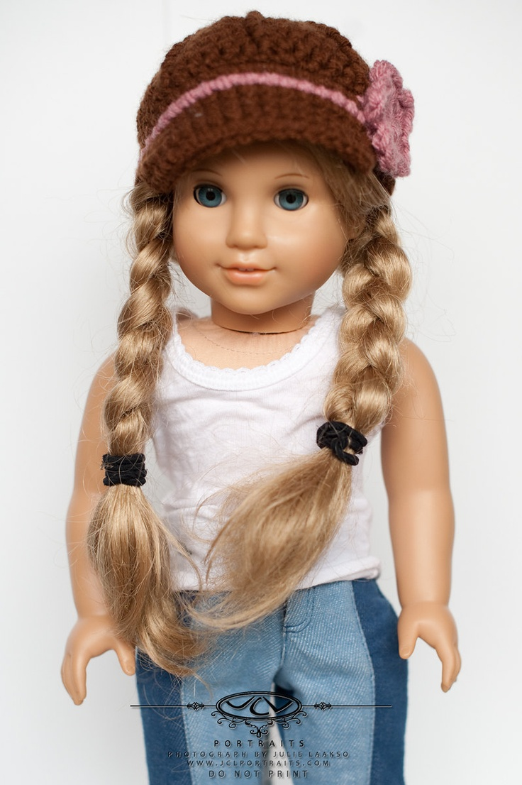 18 inch doll/ American Girl doll clothes/brimmed hat. via Etsy.