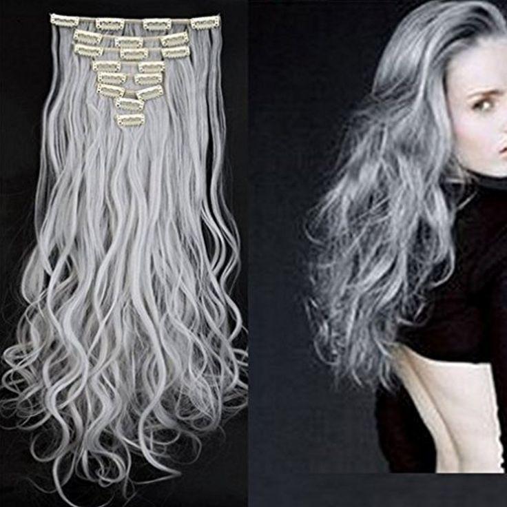 Synthetic Hair Extensions Clip On Japanese Kanekalon Fiber