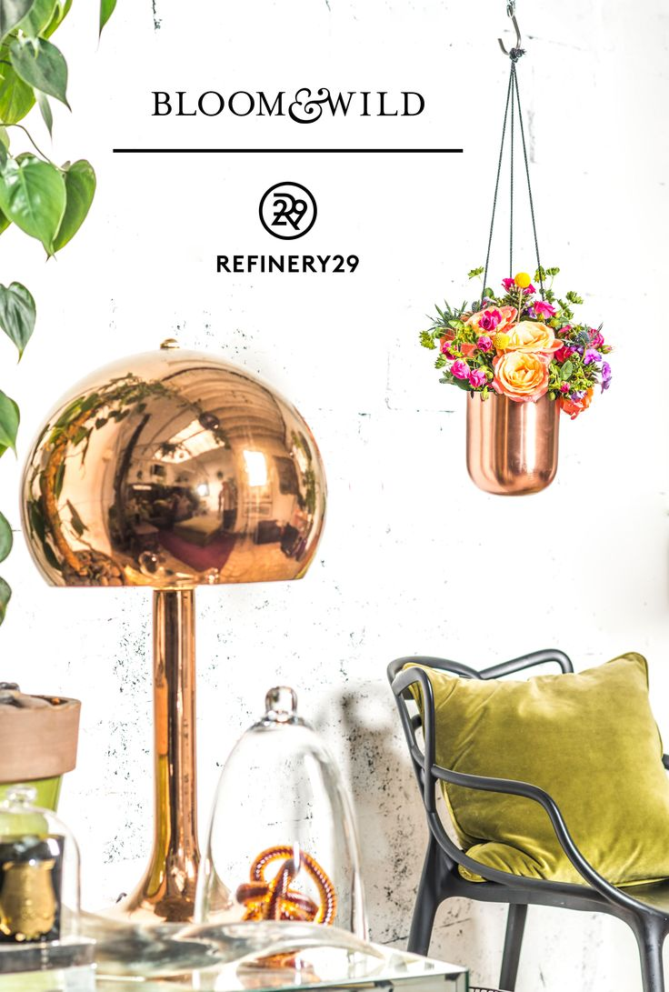 Be on trend this season with our new bouquet in collaboration with Refinery29. Pair up copper hues with this bright bouquet for a beautiful room display. These flowers come straight through the letterbox with free next day delivery. Price £29 at Bloom & Wild.