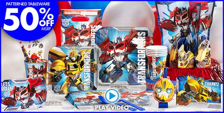 Transformers Party Supplies - Transformers Birthday - Party City
