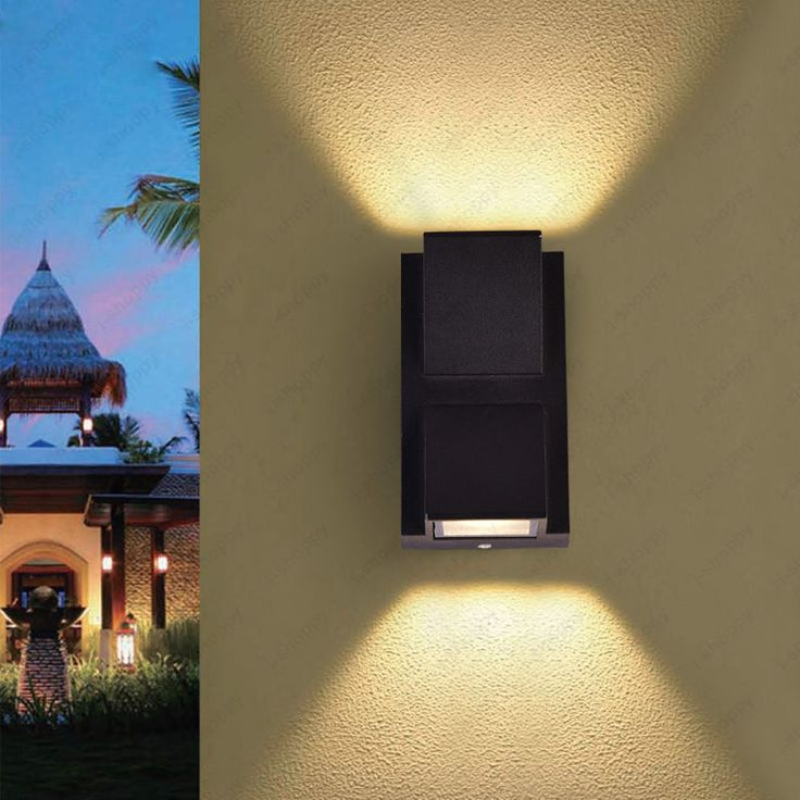 Up down 6w led wall sconce light fixture outdoor lamp waterproof walkway balcony