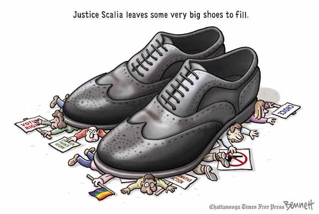 Political Cartoons of the Week: Filling Justice Scalia's Shoes