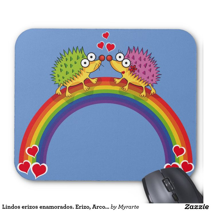 Lindos erizos enamorados. Erizo, Arcoiris. Mouse Pad. Producto disponible en tienda Zazzle. Tecnología. Product available in Zazzle store. Technology. Regalos, Gifts. Link to product: http://www.zazzle.com/lindos_erizos_enamorados_erizo_arcoiris_mouse_pad-144612068581518475?CMPN=shareicon&lang=en&social=true&view=113844229744519726&rf=238167879144476949 Día de los enamorados, amor. Valentine's Day, love. #ValentinesDay #SanValentin #love #Mousepads #erizo #hedgehog