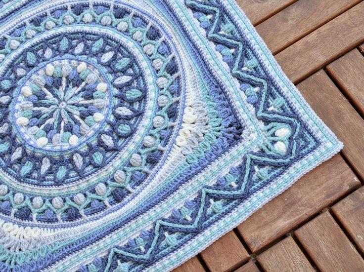 Большие вязания крючком квадратами или Second Life одуванчика Мандала | Вязание Мир LillaBjörn в