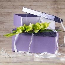 Krabice na větší dárky, fialová