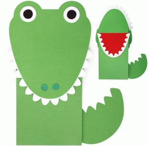 Silhouette Online Store: crocodile paper sack puppet