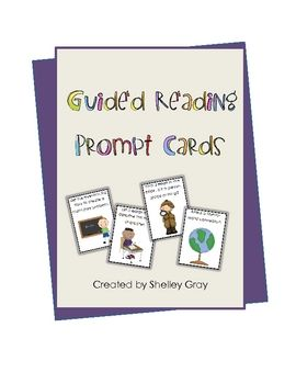 guided reading prompt cards - free