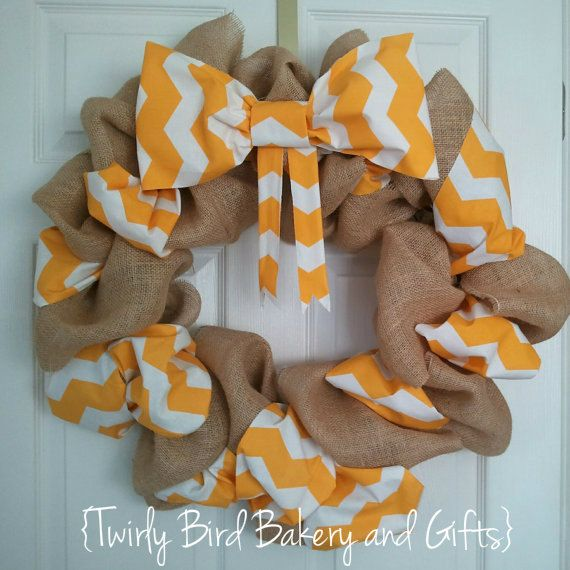 Custom Fabric/Burlap Wreath for Julieann by TwirlyBirdGifts, $45.00