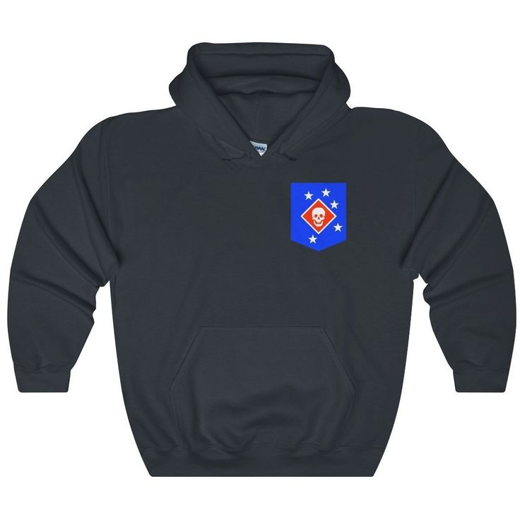 Marine Raiders Patch Heavy Blend Hooded Sweatshirt
