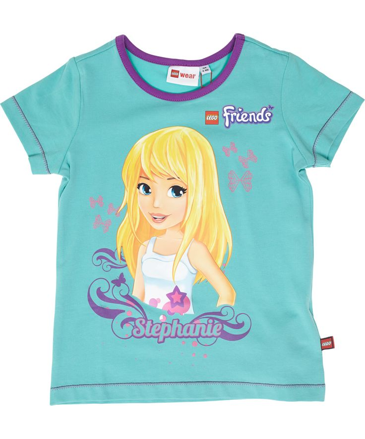 LEGO Friends green summer t-shirt with Stephanie. lego-wear.en.emilea.be