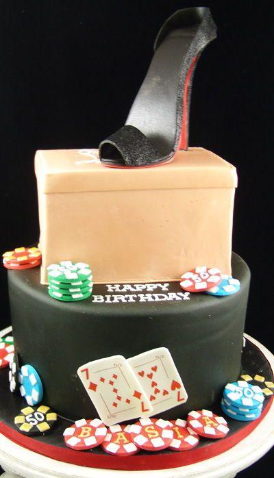 Christian Louboutin Shoe Cake Topper For Gambling Themed Birthday
